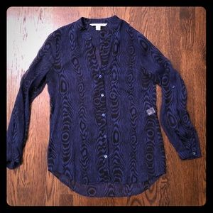 DVF Silk Top. Only worn once. EUC